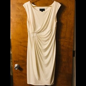Connected Apparel white sparkle dress size 12